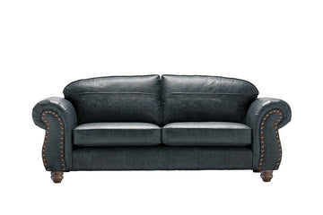 Burlington | Large Leather Sofa | Vintage Slate
