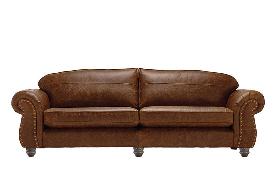 Burlington | Grand Leather Sofa | Vintage Chestnut
