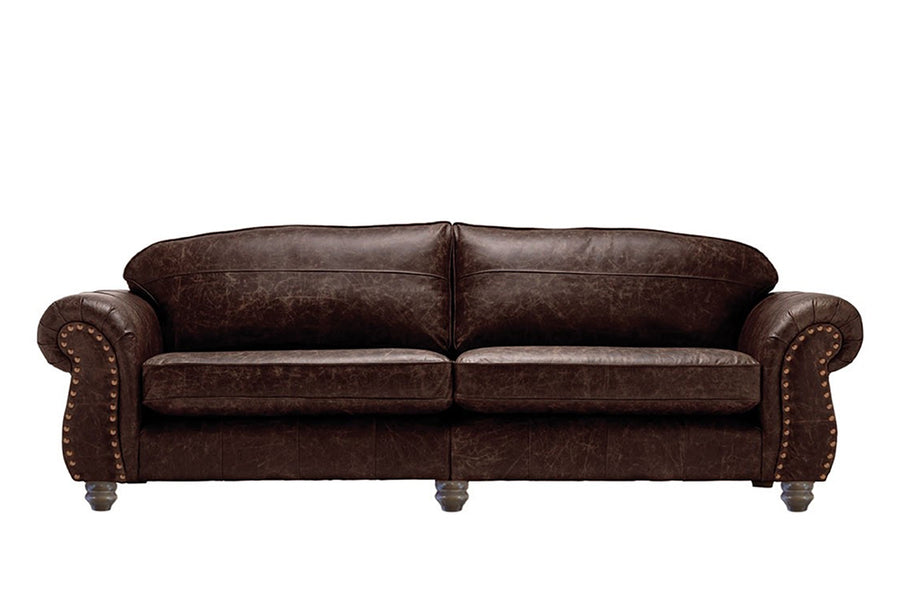 Burlington | Grand Leather Sofa | Vintage Rosewood