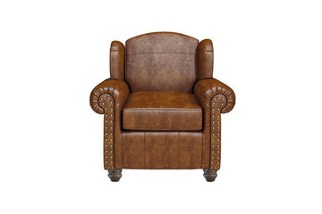 Burlington | Leather Highback Chair | Vintage Chestnut