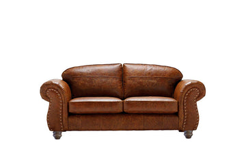Burlington | Midi Leather Sofa | Vintage Chestnut