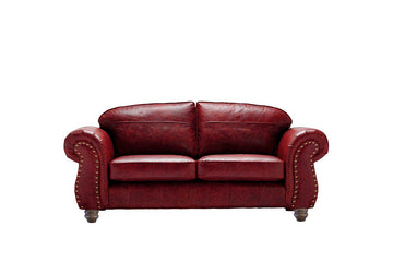 Burlington | Midi Leather Sofa | Vintage Oxblood