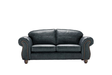Burlington | Midi Leather Sofa | Vintage Slate