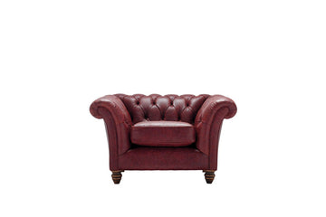 Cambridge | Club Chair | Vintage Oxblood