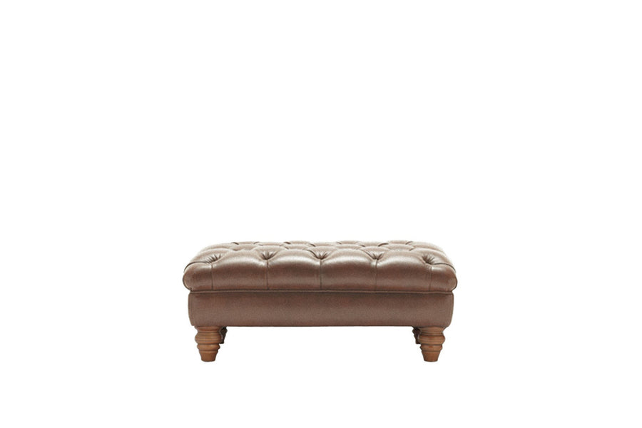 Cambridge | Bench Footstool | Vintage Chestnut