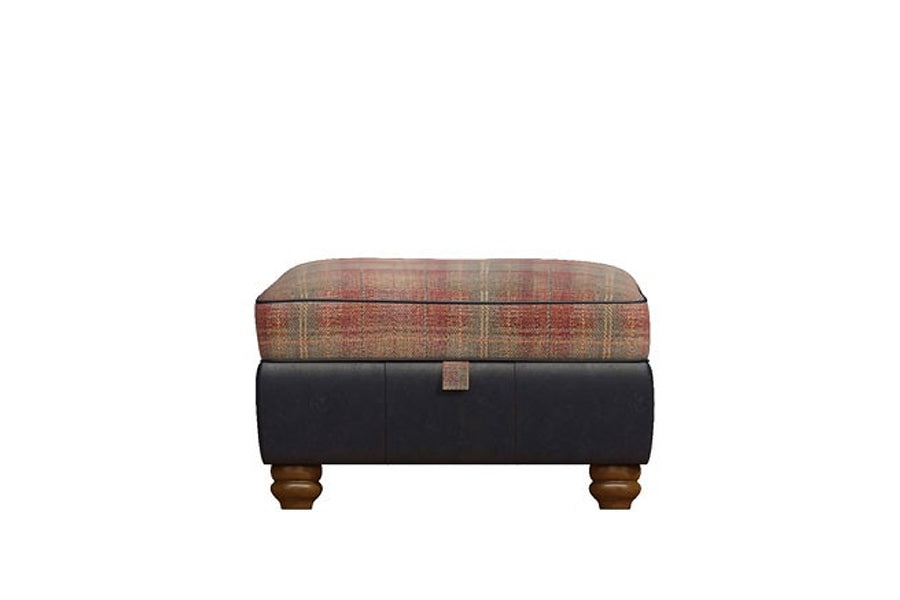 Wilmington | Storage Footstool | Vintage Slate/Terracotta