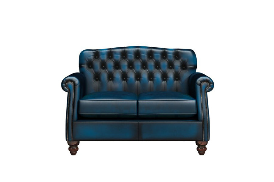 Victoria | 2 Seater Sofa | Antique Blue