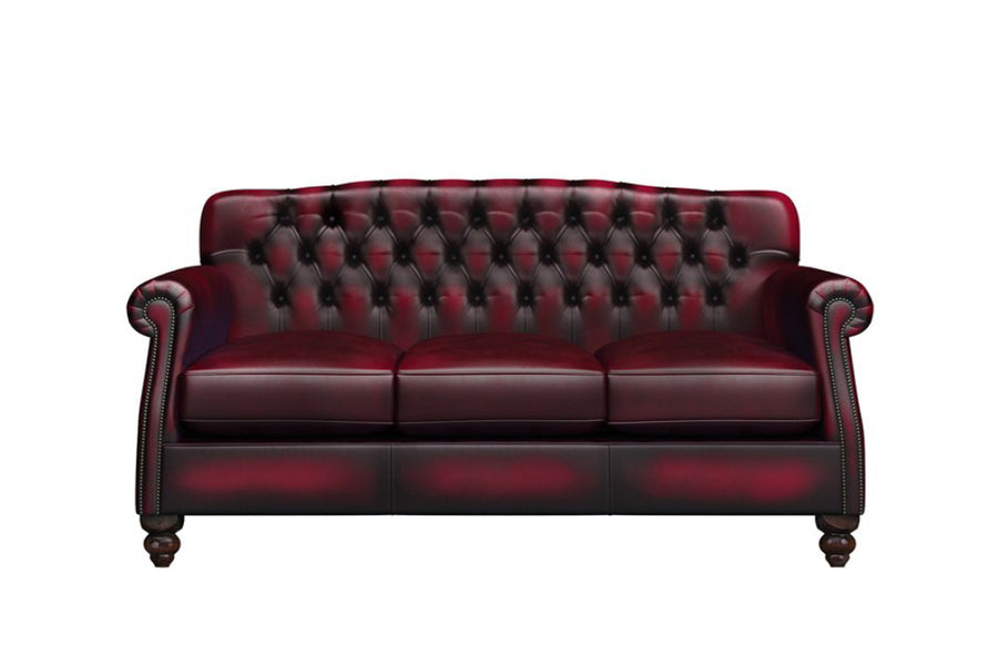 Victoria | 3 Seater Sofa | Antique Red