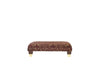 Windsor | Bench Footstool | Anya Burgundy Floral