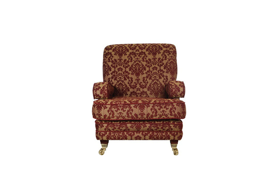 Windsor | Highback Chair | Anya Burgundy Floral