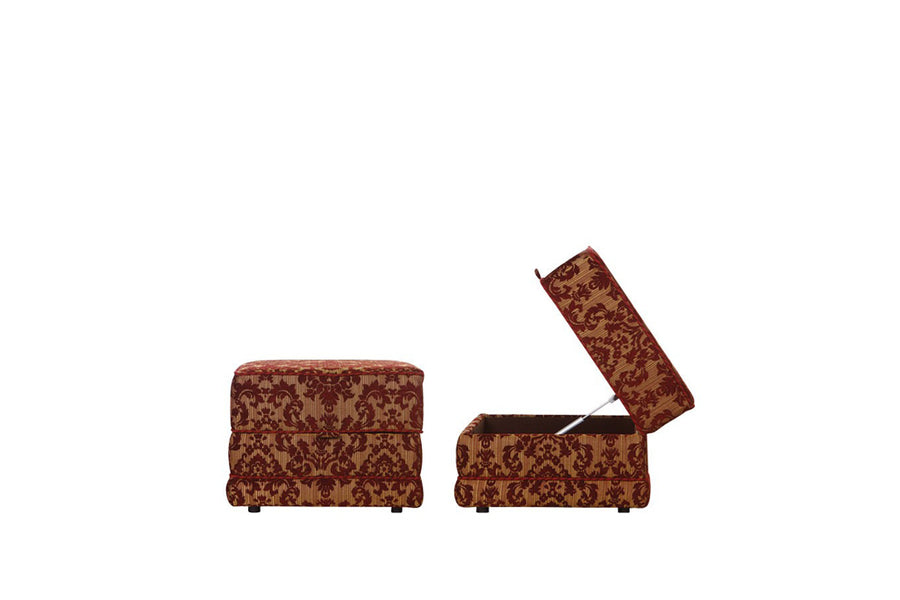 Windsor | Storage Stool | Anya Burgundy Floral
