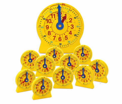 Tallinje-klokke STOR + SETT - 24-Hour NumberLine Clock | Learning Resources