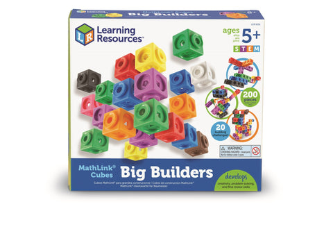 MathLink Cubes Big Builders | Learning Resources