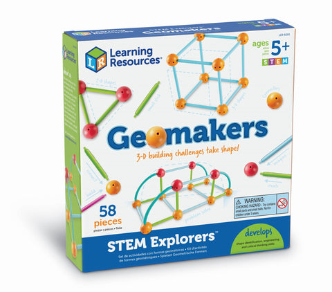 Geometriske figurer - STEM Explorers: Geomakers byggesett | Learning Resources