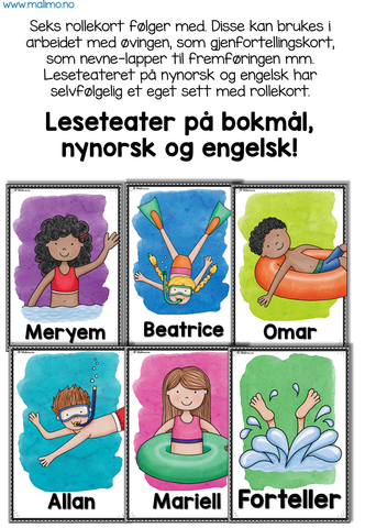 "LESETEATER 10: Sommer - ""En dag i vannet"" / ""A day in the water"""
