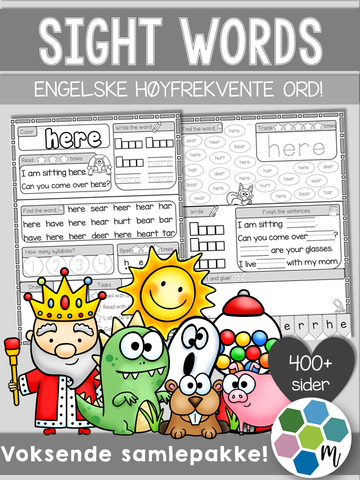 Engelsk: Sight words SAMLEPAKKE