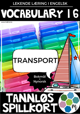 Vocabulary 16 - Transport - TANNLØS-spillkort