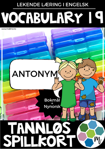 Vocabulary 19 - Antonym - TANNLØS-spillkort