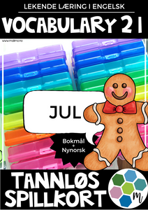 Vocabulary 21 - Jul - TANNLØS-spillkort