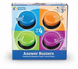 Answer Buzzers, 4pk | Learning Resources