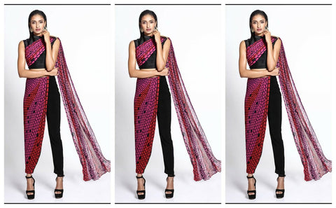 Styling Indian Saree - Indo western Style