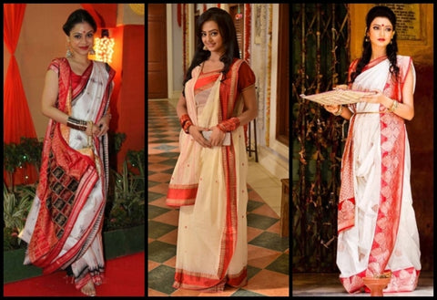 Buy Bengali Style Indian Saree online in USA, UK, Canada