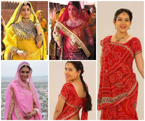 Buy famous Rajasthani style Indian Saree in USA, UK, Canada