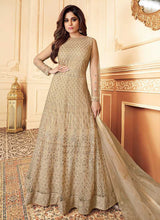 Load image into Gallery viewer, Beige Heavy Embroidered Gown Style Anarkali