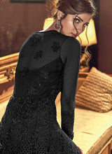Load image into Gallery viewer, Black Heavy Embroidered Lehenga/ Pant Style Anarkali