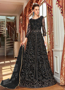 Black Heavy Embroidered Lehenga/ Pant Style Anarkali