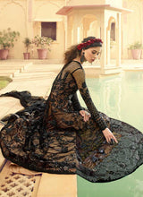 Load image into Gallery viewer, Black and Beige Embroidered Gown Style Anarkali Suit