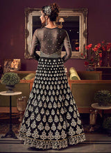 Load image into Gallery viewer, Black & Gold Heavy Embroidered Gown Style Anarkali Suit - Wedding Indian Dress 3