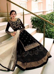 Black and Gold Heavy Embroidered Lehenga/ Pant Style Suit