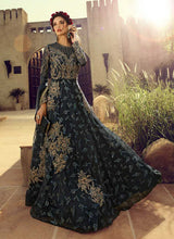 Load image into Gallery viewer, Charcol Grey Heavy Embroidered Gown Style Anarkali Suit - Indian Clothing | FashionandStylish 4