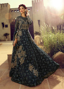 Charcol Grey Heavy Embroidered Gown Style Anarkali Suit - Indian Clothing | FashionandStylish 4