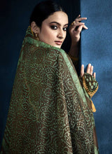 Load image into Gallery viewer, Dark Green Kalidar Embroidered Anarkali Style Suit - Indian Clothing 3
