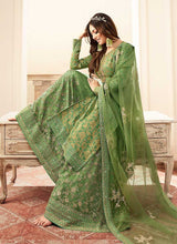 Load image into Gallery viewer, Green and Gold Embroidered Sharara Style Suit 3