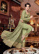 Load image into Gallery viewer, Green and Gold Heavy Embroidered Lehenga