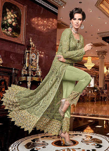 Green and Gold Heavy Embroidered Lehenga