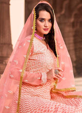 Load image into Gallery viewer, Light Peach Heavy Embroidered Gown Style Anarkali