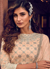 Load image into Gallery viewer, Light Peach Heavy Embroidered Sharara Style Suit
