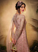 Load image into Gallery viewer, Light Pink Floral Embroidered Gown Style Anarkali Suit
