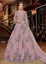 Load image into Gallery viewer, Light Pink Floral buds Embroidered Anarkali