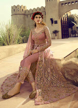 Load image into Gallery viewer, Light Pink Heavy Embroidered Lehenga/Pant Style Anarkali