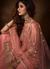 Load image into Gallery viewer, Light Pink Sequins Work Embroidered Gharara Style Suit