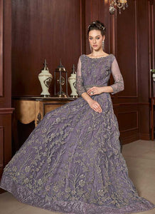 Light Purple Heavy Embroidered Lehenga Style Anarkali