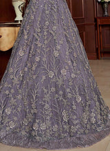 Load image into Gallery viewer, Light Purple Heavy Embroidered Lehenga Style Anarkali