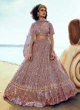 Load image into Gallery viewer, Light Purple Sequins Embroidered Stylish Lehenga Choli