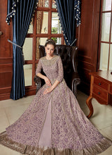 Load image into Gallery viewer, Lilac Heavy Embroidered Lehenga/ Pant Style Anarkali 4
