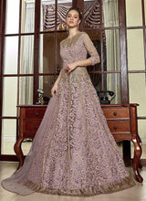 Load image into Gallery viewer, Lilac Heavy Embroidered Lehenga/ Pant Style Anarkali